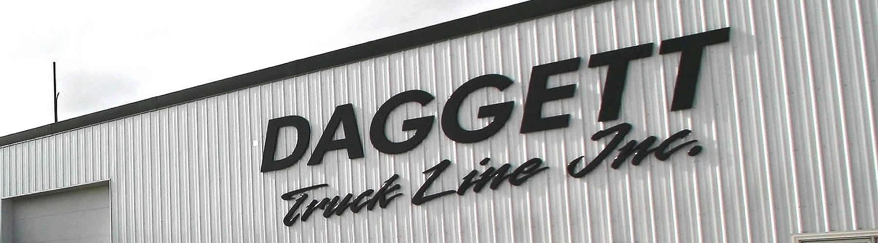 The Daggett Truck Line Inc. office in Frazee, Minnesota.