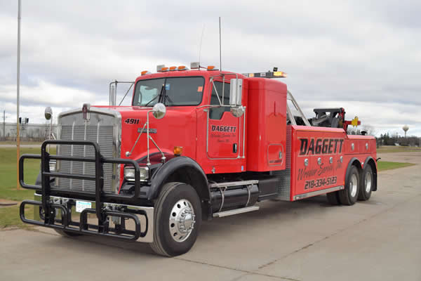 Need your truck or vehicle towed, give Daggett Wrecker Service a call.